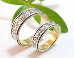 Wedding Rings Sets For Women by Womens Wedding Ring Set Womens Wedding Band Set Cherry Blossom