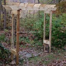 how to build a rustic 6 u0027 garden arbor