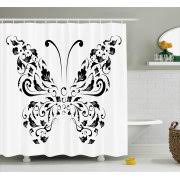 Swirl Shower Curtain Butterfly Shower Curtain