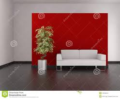 modern living room with red wall and tiled floor stock images