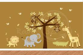wall theme jungle theme wall stickers estate buildings information portal