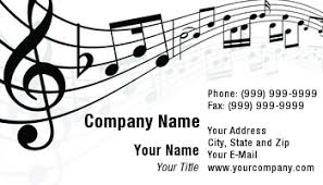 Business Card Music Template At129675 Music Notes Background 2406 Tif