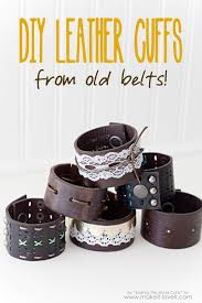 leather bracelet craft images Diy leather cuffs from old belts make it and love it jpg