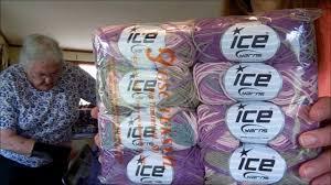 yarn paradise ice yarn from turkey youtube