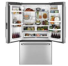 Counter Depth Stainless Steel Refrigerator French Door - ge cafe series 23 1 cu ft counter depth french door