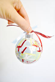 easy paper scrap diy christmas ornaments mod podge rocks