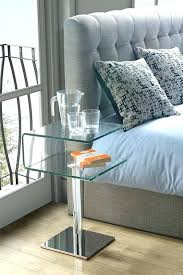 clear plastic bedside table side tables clear bedside table modern clear glass c shape bedside