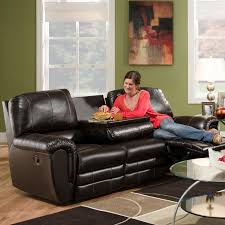 Reclining Sofa With Center Console Franklin 463 Casual Reclining Sofa With Drop Console