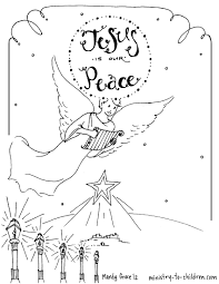 peace christmas coloring pages coloring page
