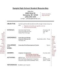 resume template high school resume for with no work experience template high school
