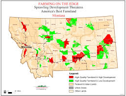 Montana Map by American Farmland Trust Resources Farming On The Edge Report