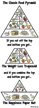 a food pyramid for modern times neatorama