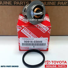 lexus rx330 thermostat genuine toyota engine coolant thermostat with gasket 90916 03046
