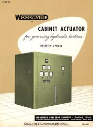 vintage woodward cabinet actuator governor manual 07004e cover