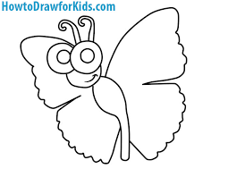 how to draw a butterfly for howtodrawforkids