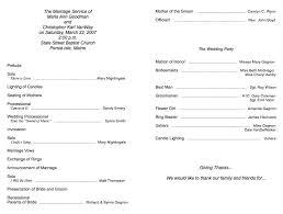 wedding church program templates church program template cyberuse