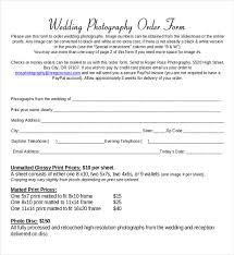 17 wedding order templates u2013 free sample example format