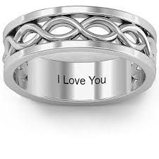 mens infinity wedding band couples rings personalize with birthstones and engravings jewlr