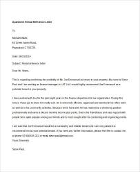 9 rental reference letter template free word pdf format