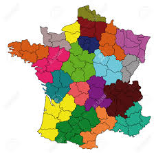 Detailed Map Of France by Detailed Colored Map Of France With All Departments Royalty Free