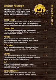 menus u2013 café sol