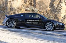 first audi ever made spyshots 2019 audi r8 gt flaunts two huge oval exhaust pipes