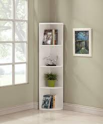 Redford White Corner Bookcase by Corner Bookcases Finley Home Redford Corner Bookcase Hayneedle