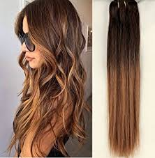 ombre hair extensions uk 18 inch clip in 100 human hair extensions 6 pcs ombre
