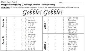 gobble 100 systems coordinate graphing activity challenge version