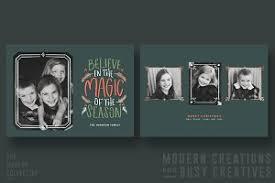 christmas card oh what fun banner card templates creative market