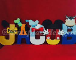 mickey mouse letters etsy