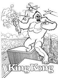free king kong cartoon coloring books kids coloring7
