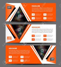 layout banner design orange banner template vector horizontal banner advertising