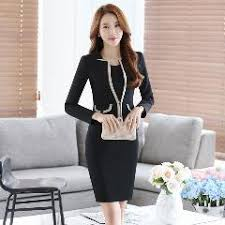 styles of work suites autumn winter slim fashion career work suits with jackets and dress