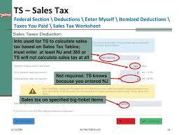 sales tax table 2016 itemized deductions nj property tax deduction credit ppt download