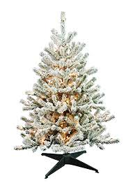 barcana 4 foot flocked tabletop tree with