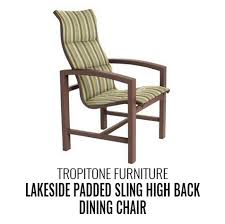 High Back Sling Patio Chairs by Patio Furniture U2013 Outdoor Living And Spas