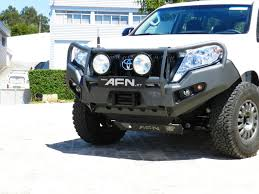 afn bull bar toyota prado 150 fog lights included for land