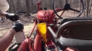 farmall 140 gear oil change youtube