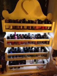 lit up nail varnish storage rack 11 steps