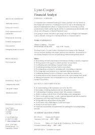 Financial Services Resume Template Financial Analyst Resume Sample Canada Financial Analyst Resume