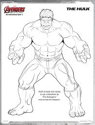 hulk avengers age of ultron free printable coloring pages ideas
