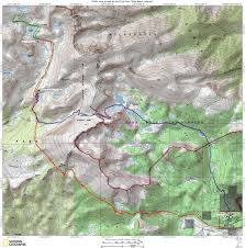 Sierra High Route Map by Sea To Summit Ultralight Miter Basin Cottonwood Lakes 08 10