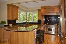 Light Oak Kitchen Cabinets Kitchen Kitchen Beautiful U Shape Kitchen Decoration Using Light