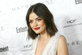bob cut hairstyle front and back lucy hale just chopped her hair into an even shorter chin length