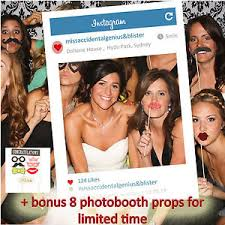 Props For Photo Booth Personalised Instagram Social Media Photobooth Frame For Photo