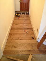 hallway nearly completed this oak floor has been hand finished in