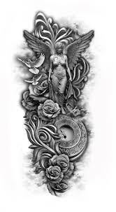 cross angel wing tattoos the 25 best angel sleeve tattoo ideas on pinterest wing tattoo