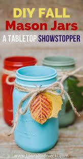 reversible 2 in 1 diy fall mason jars easy leaf luminary jar craft