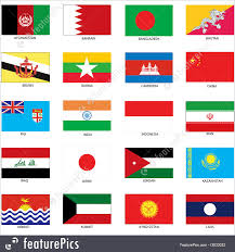 Countries Of The World Flags Flags Asian Flags Stock Illustration I3933032 At Featurepics